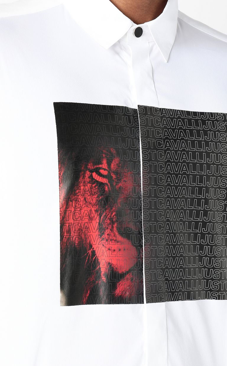JUST CAVALLI Shirt with Just-Cavalli-Lion print Long sleeve shirt Man e