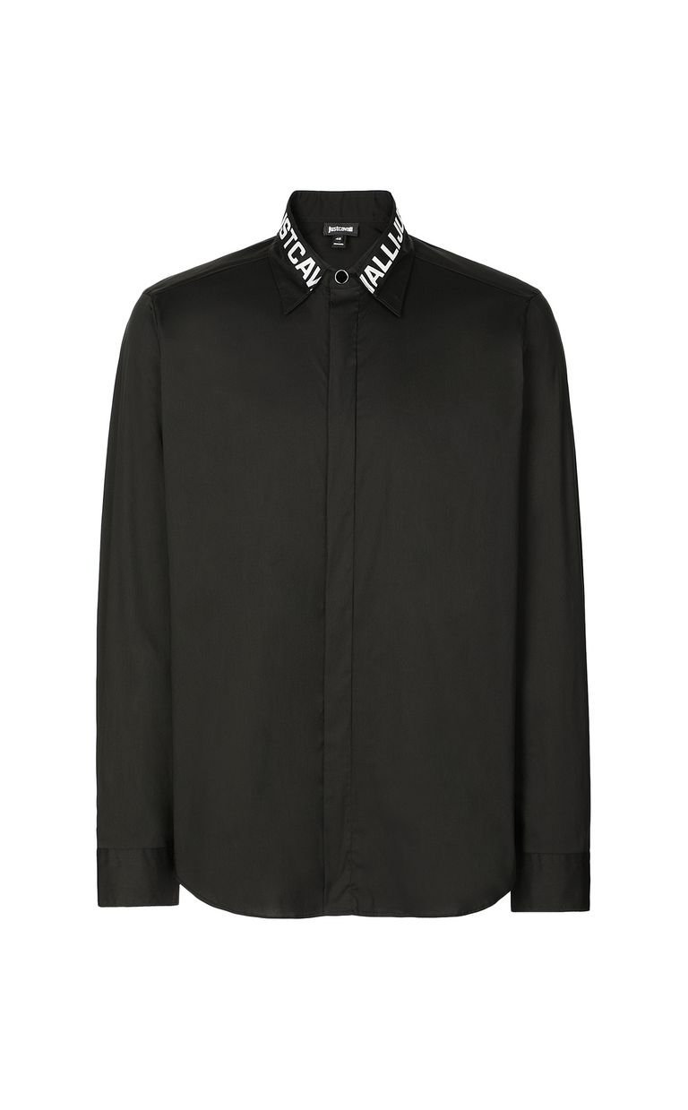 JUST CAVALLI Shirt with logo detail Long sleeve shirt Man f