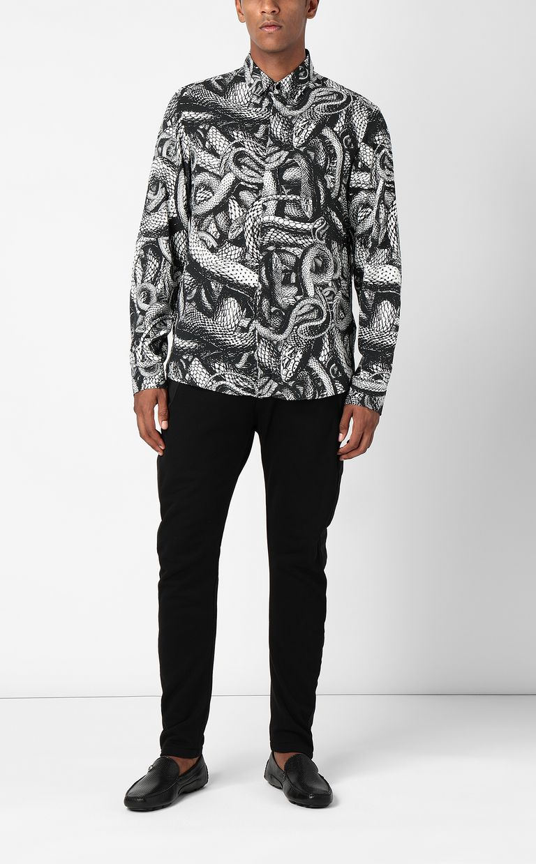 JUST CAVALLI Shirt with Endless-Snake print Long sleeve shirt Man d
