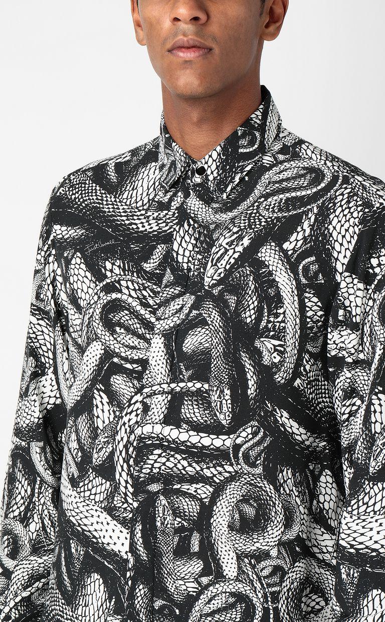 JUST CAVALLI Shirt with Endless-Snake print Long sleeve shirt Man e