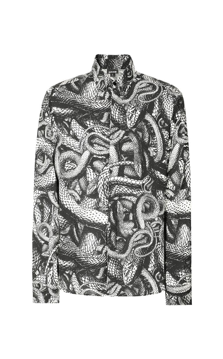 JUST CAVALLI Shirt with Endless-Snake print Long sleeve shirt Man f