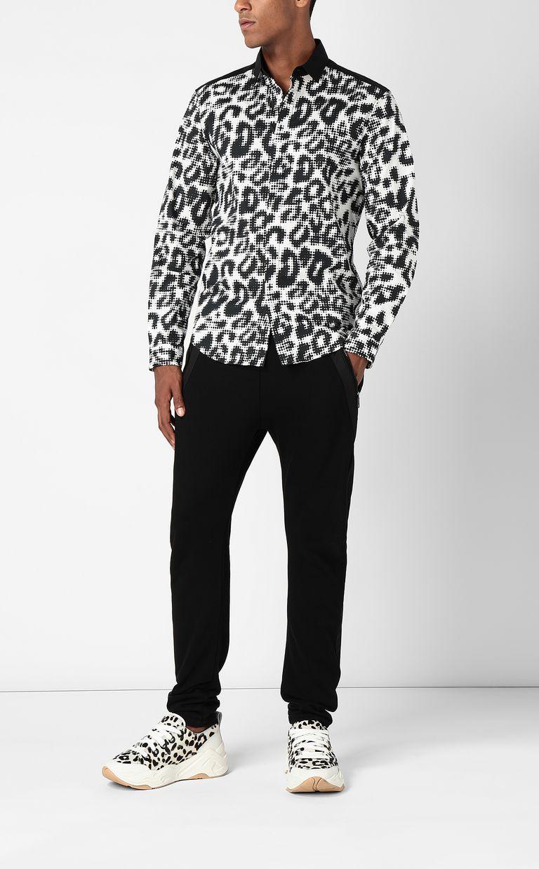 JUST CAVALLI Shirt with Pop-Leo print Long sleeve shirt Man d