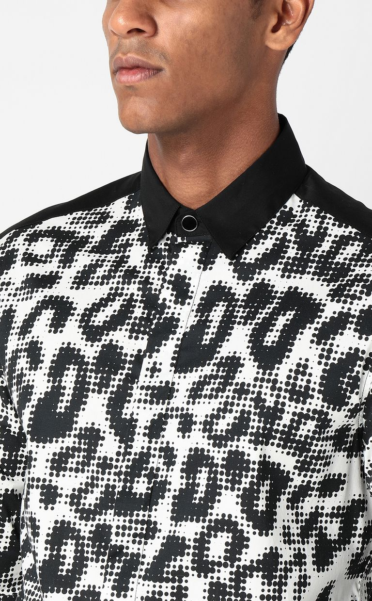 JUST CAVALLI Shirt with Pop-Leo print Long sleeve shirt Man e