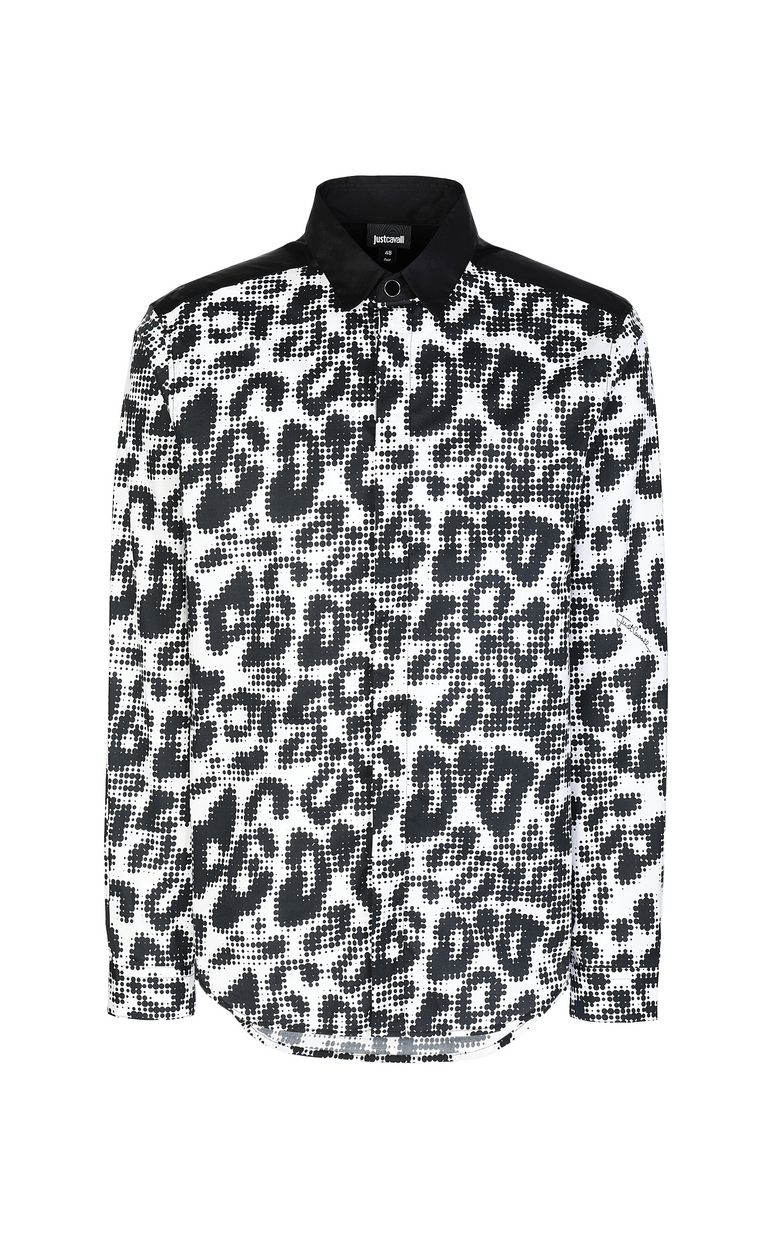 JUST CAVALLI Shirt with Pop-Leo print Long sleeve shirt Man f
