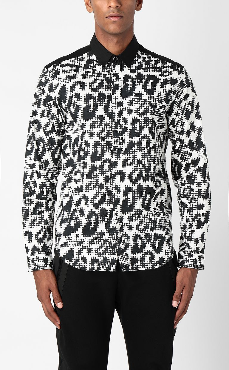 JUST CAVALLI Shirt with Pop-Leo print Long sleeve shirt Man r