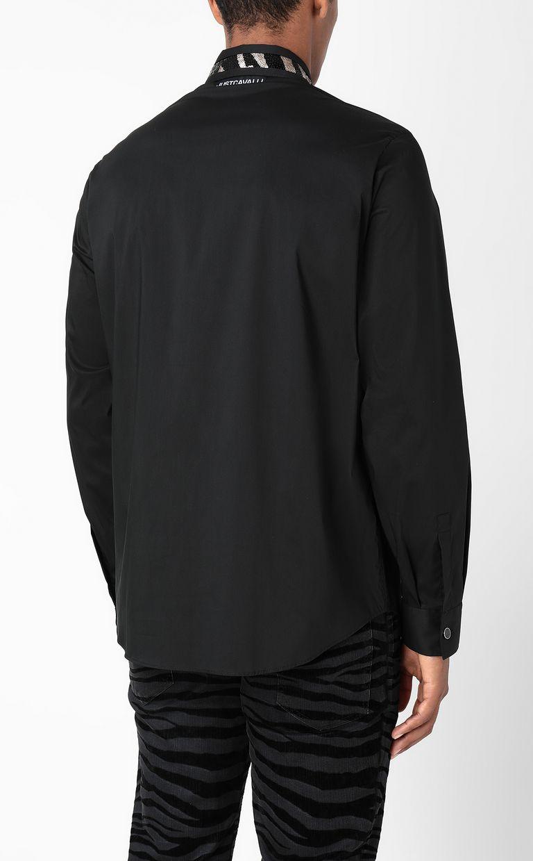 JUST CAVALLI Shirt with sequin detail Long sleeve shirt Man a