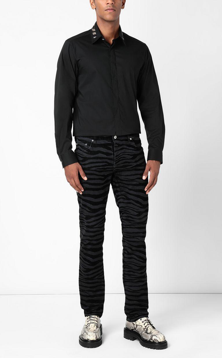 JUST CAVALLI Shirt with sequin detail Long sleeve shirt Man d