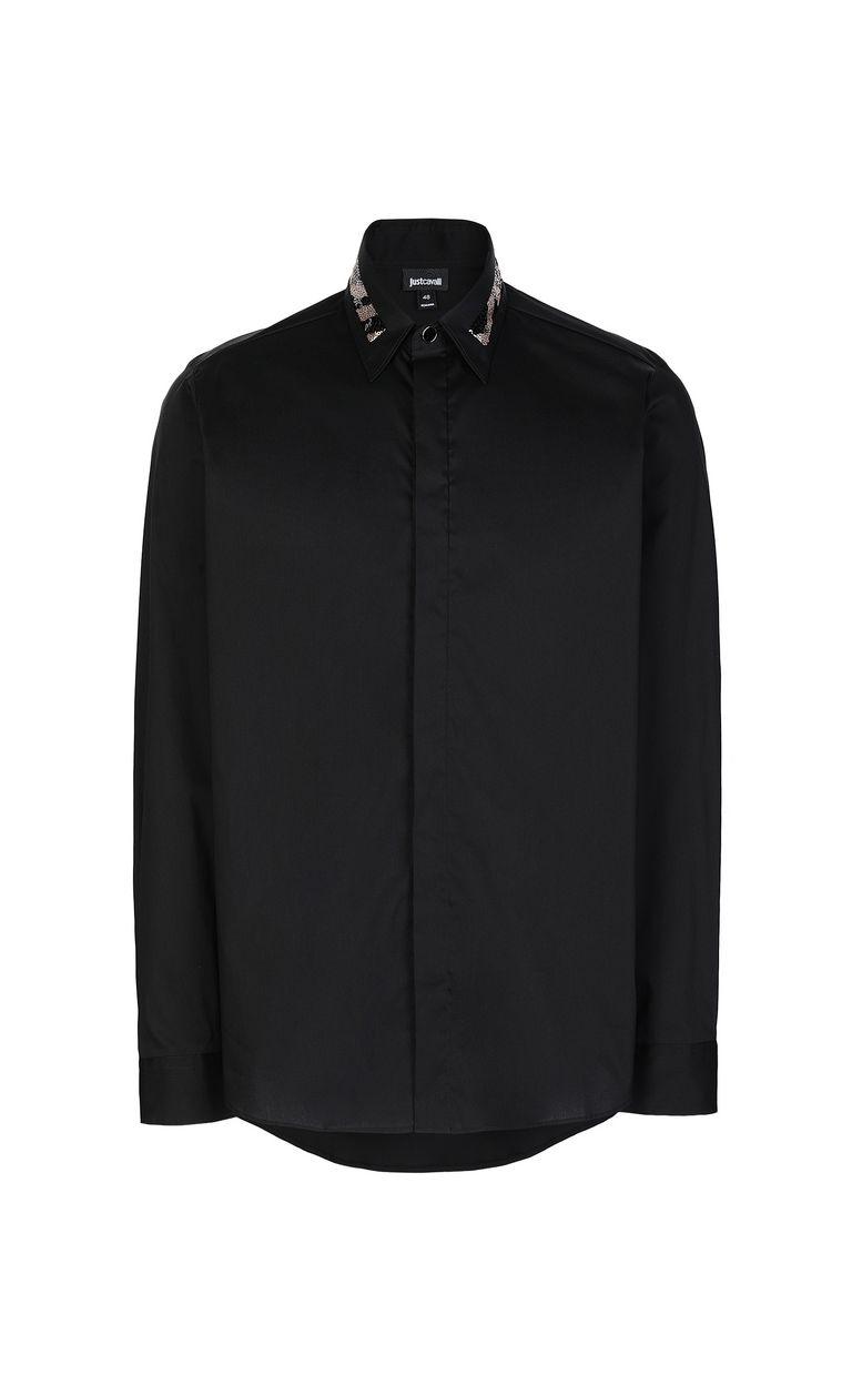 JUST CAVALLI Shirt with sequin detail Long sleeve shirt Man f