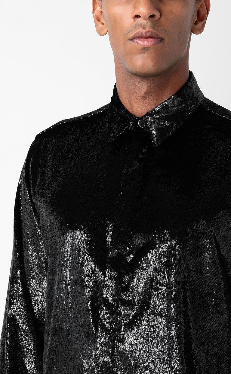 JUST CAVALLI Velvet shirt Long sleeve shirt Man e