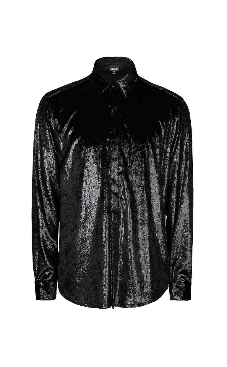 JUST CAVALLI Velvet shirt Long sleeve shirt Man f