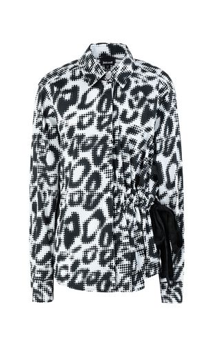 JUST CAVALLI Long sleeve shirt Woman Shirt with leopard spots f