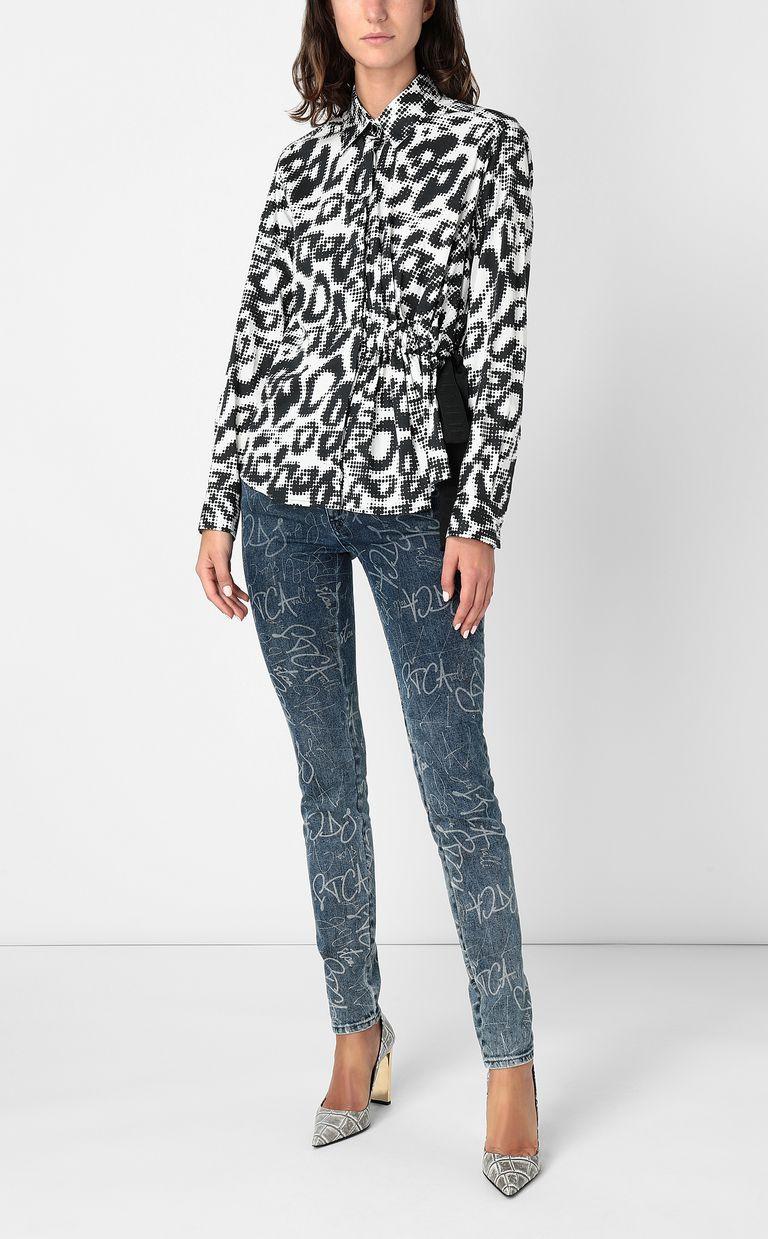 JUST CAVALLI Shirt with Leo-Pop print Long sleeve shirt Woman d