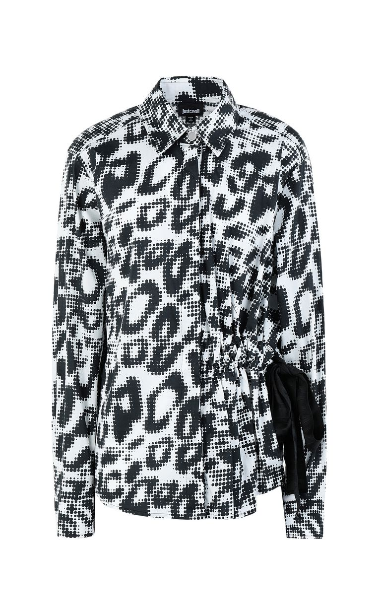 JUST CAVALLI Shirt with Leo-Pop print Long sleeve shirt Woman f