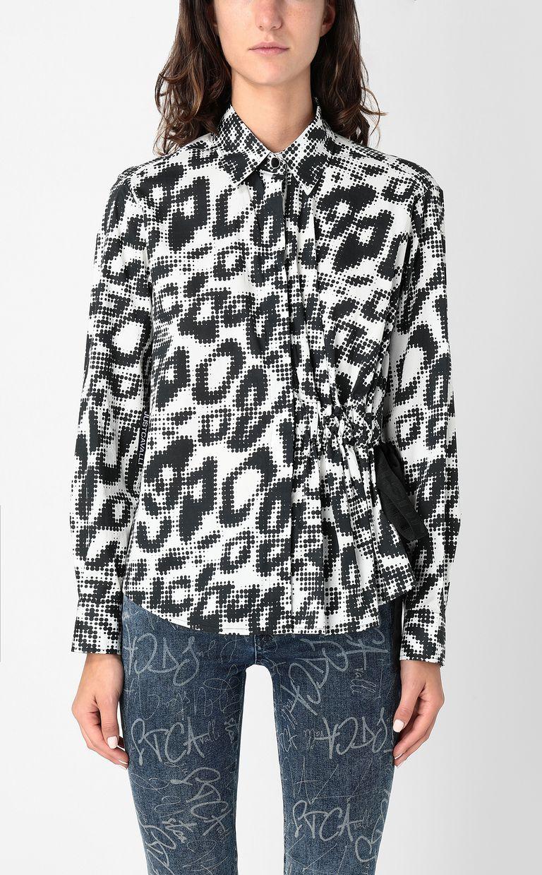 JUST CAVALLI Shirt with Leo-Pop print Long sleeve shirt Woman r