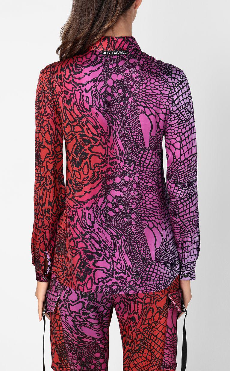 JUST CAVALLI Shirt with Reptilia print Long sleeve shirt Woman a