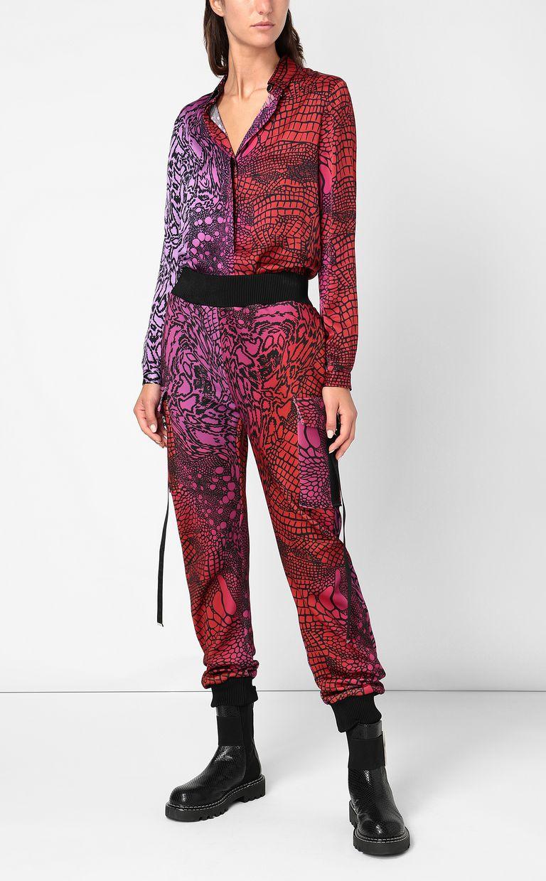 JUST CAVALLI Shirt with Reptilia print Long sleeve shirt Woman d