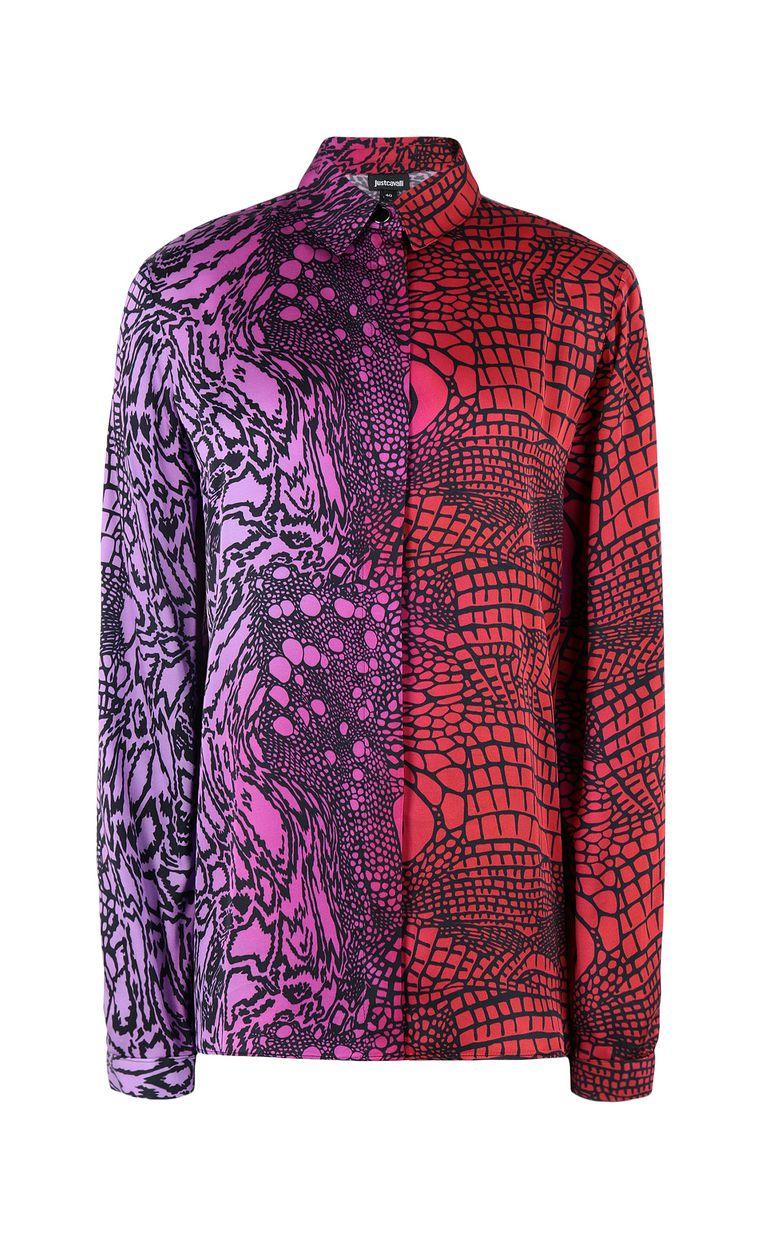 JUST CAVALLI Shirt with Reptilia print Long sleeve shirt Woman f
