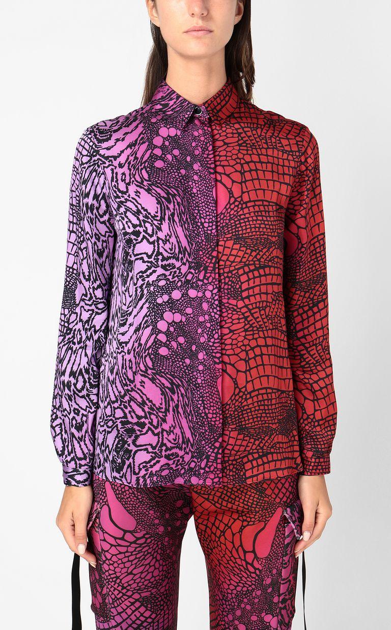 JUST CAVALLI Shirt with Reptilia print Long sleeve shirt Woman r