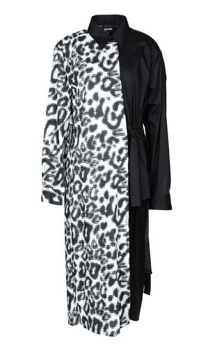 JUST CAVALLI Kaftan Woman Maxi shirt with Leo-Pop print f