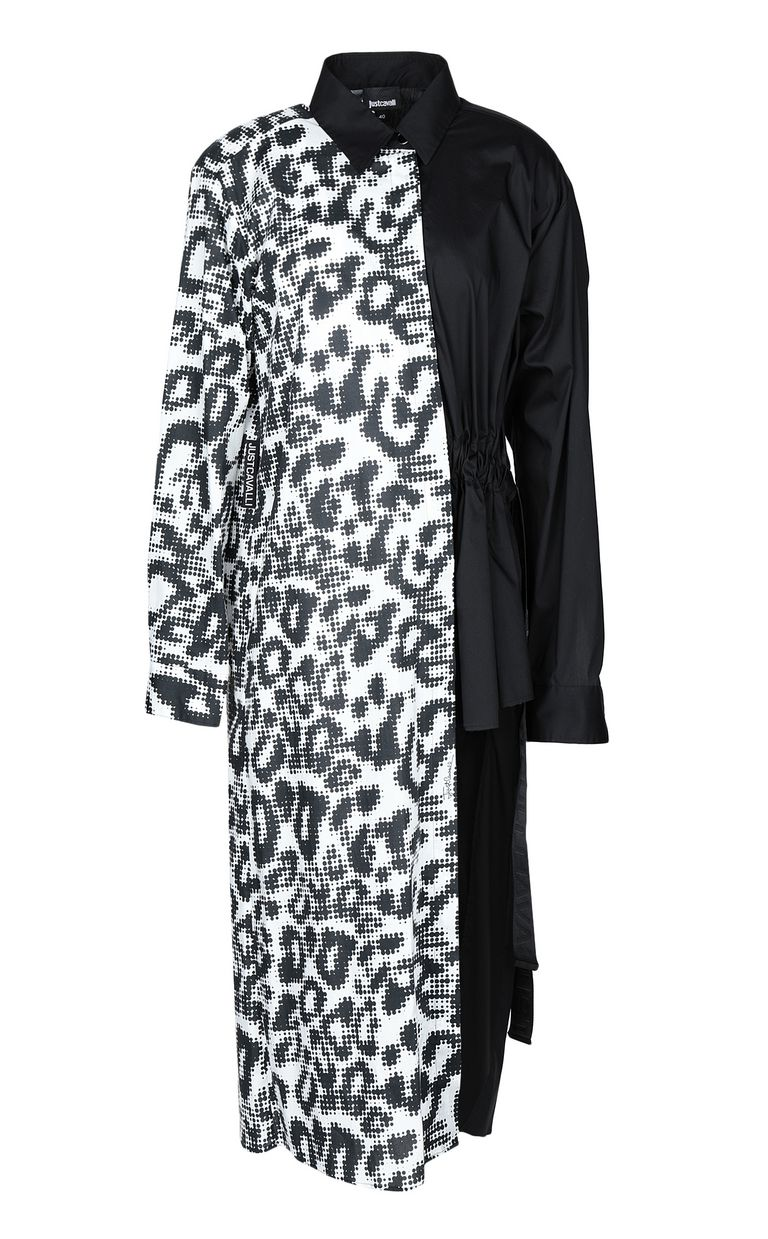 JUST CAVALLI Maxi shirt with Leo-Pop print Kaftan Woman f