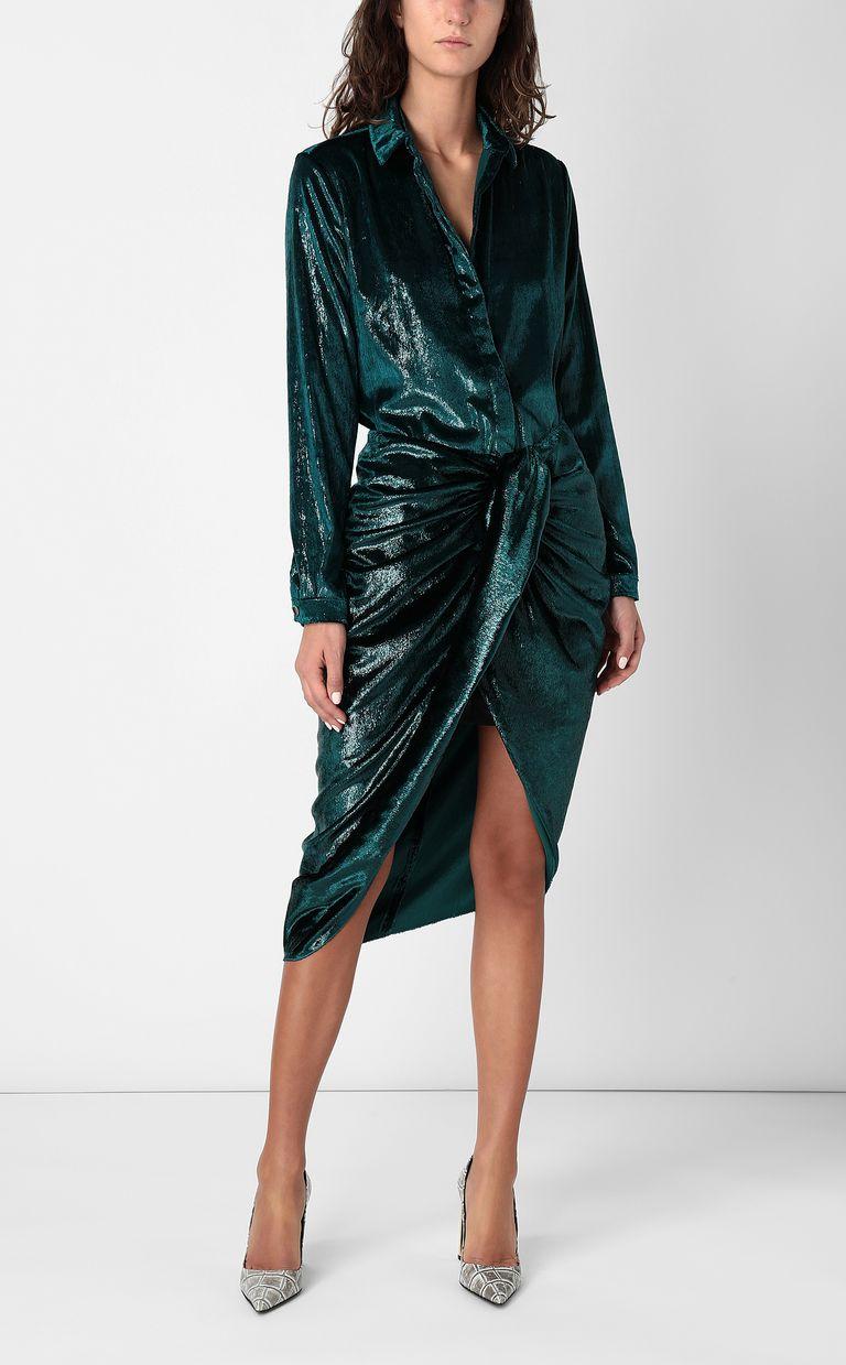 JUST CAVALLI Wet-effect velvet shirt Long sleeve shirt Woman d