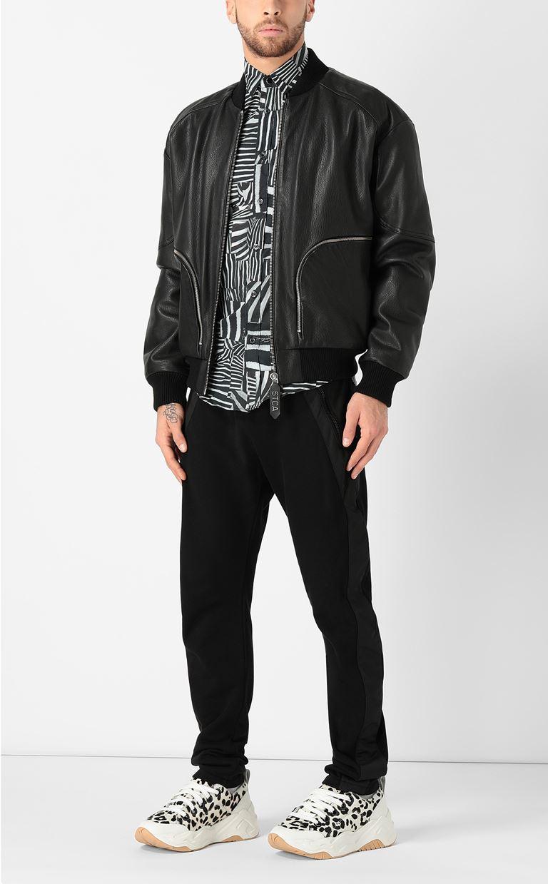 JUST CAVALLI Shirt with Patchwork-Zebra print Long sleeve shirt Man d