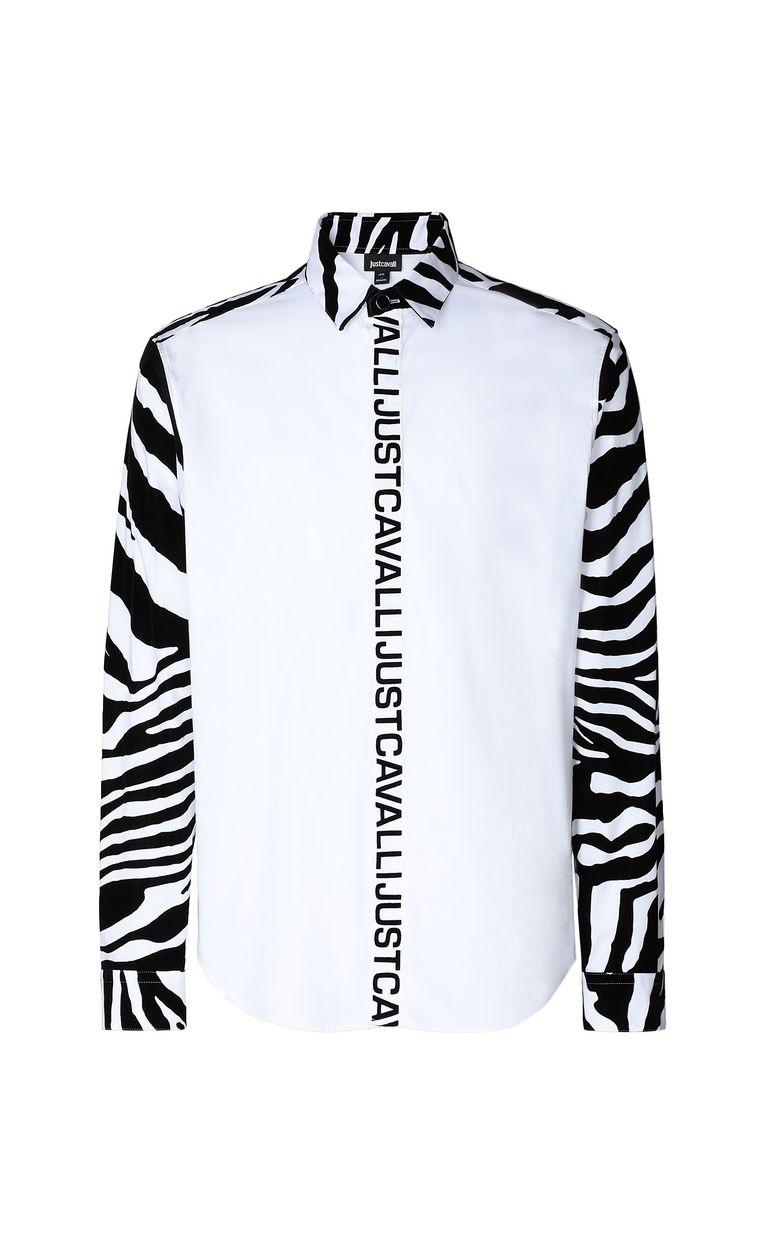 JUST CAVALLI Shirt with zebra-stripe pattern Long sleeve shirt Man f