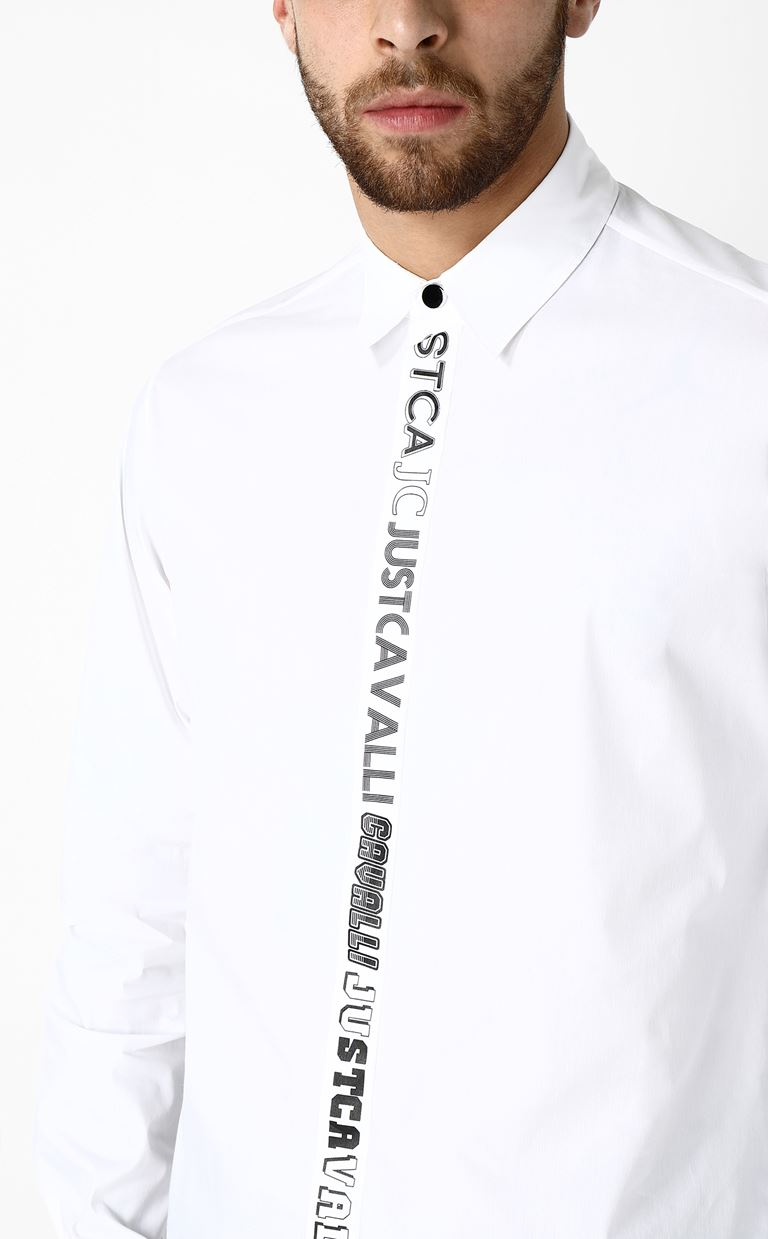 JUST CAVALLI Shirt with logo Long sleeve shirt Man a