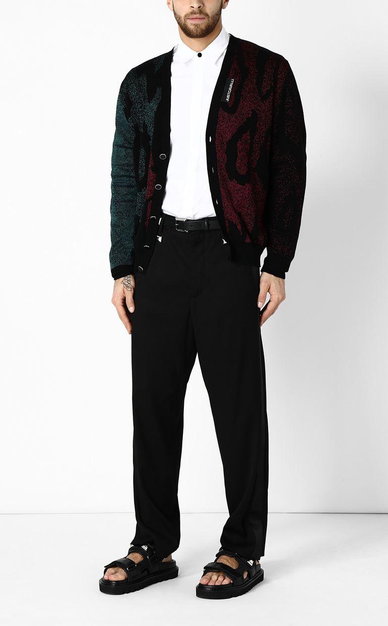 JUST CAVALLI Shirt with mesh detailing Long sleeve shirt Man d
