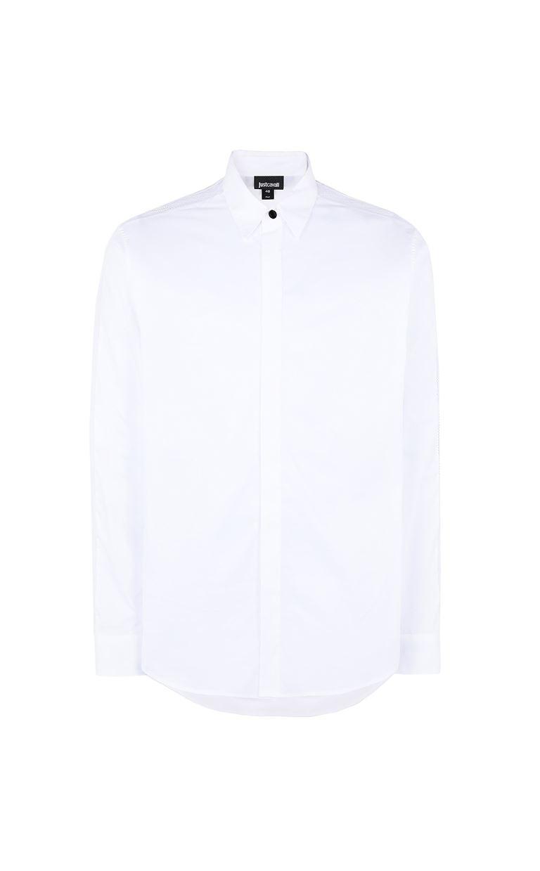 JUST CAVALLI Shirt with mesh detailing Long sleeve shirt Man f