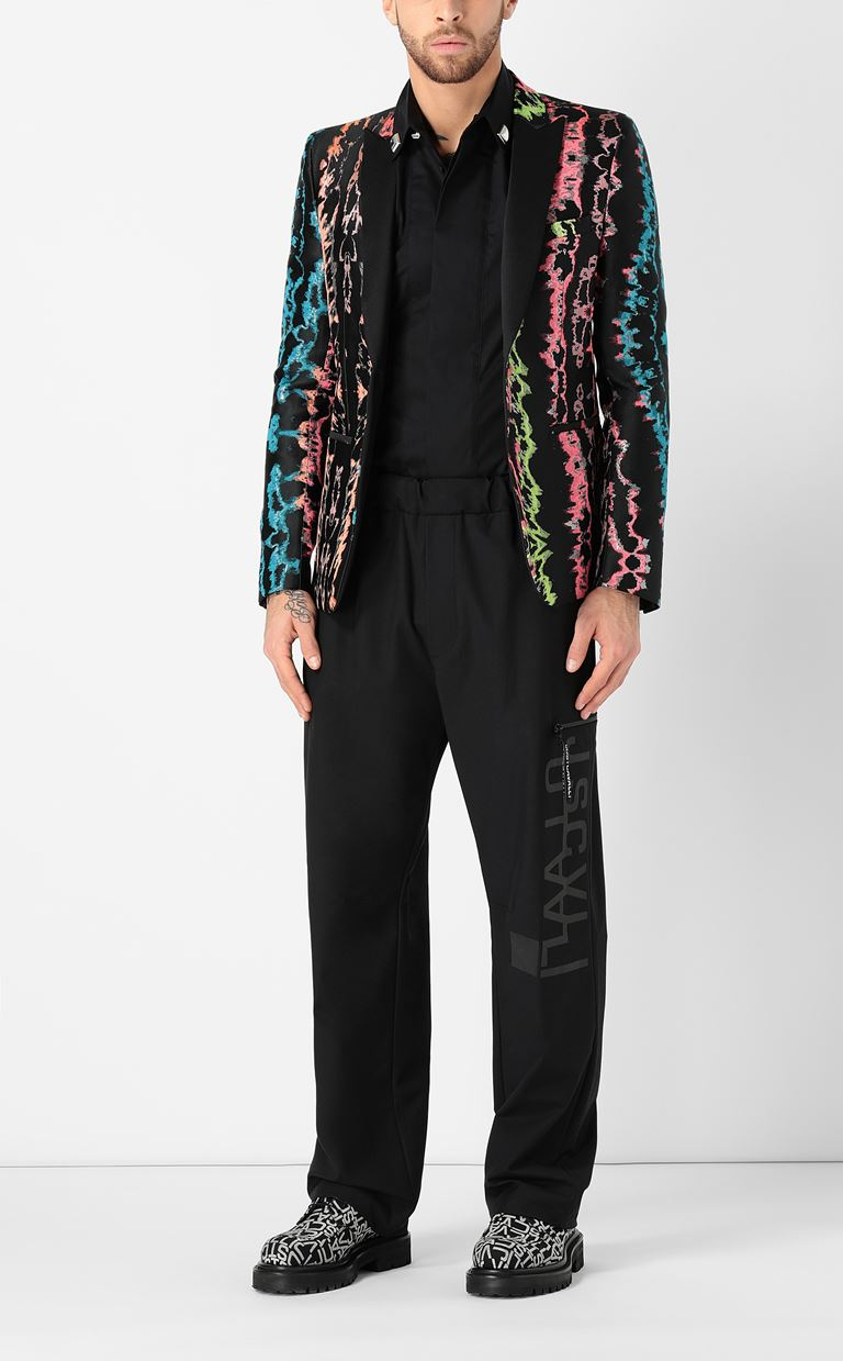 JUST CAVALLI Shirt with stud details Long sleeve shirt Man d