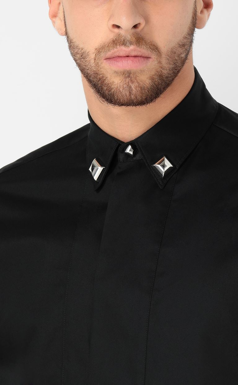 JUST CAVALLI Shirt with stud details Long sleeve shirt Man e