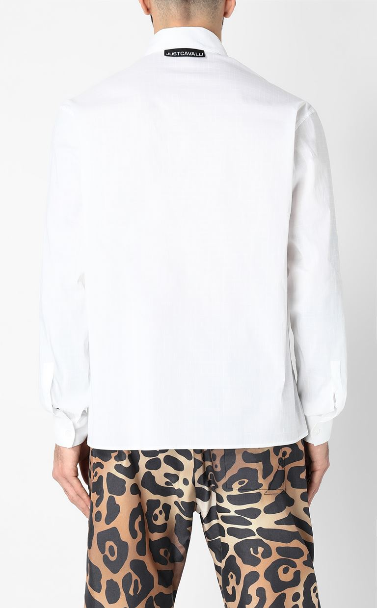 JUST CAVALLI Shirt with logo Long sleeve shirt Man a