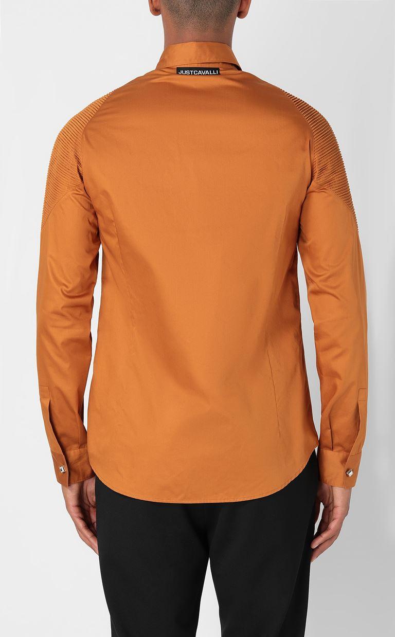 JUST CAVALLI Biker-detailed shirt Long sleeve shirt Man a