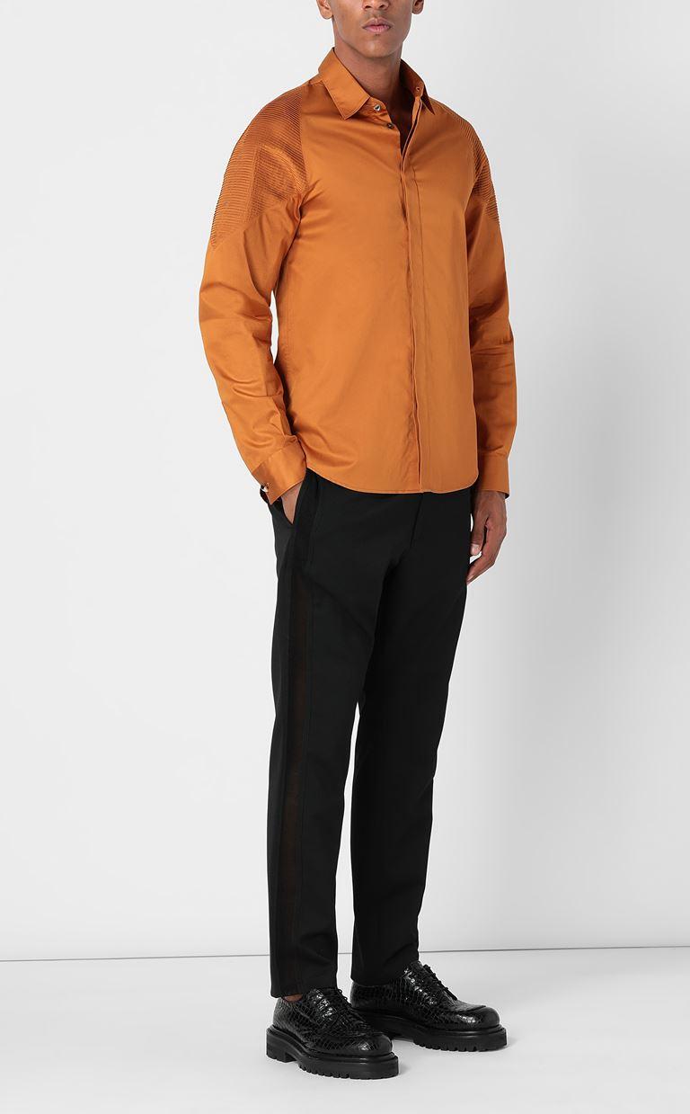 JUST CAVALLI Biker-detailed shirt Long sleeve shirt Man d