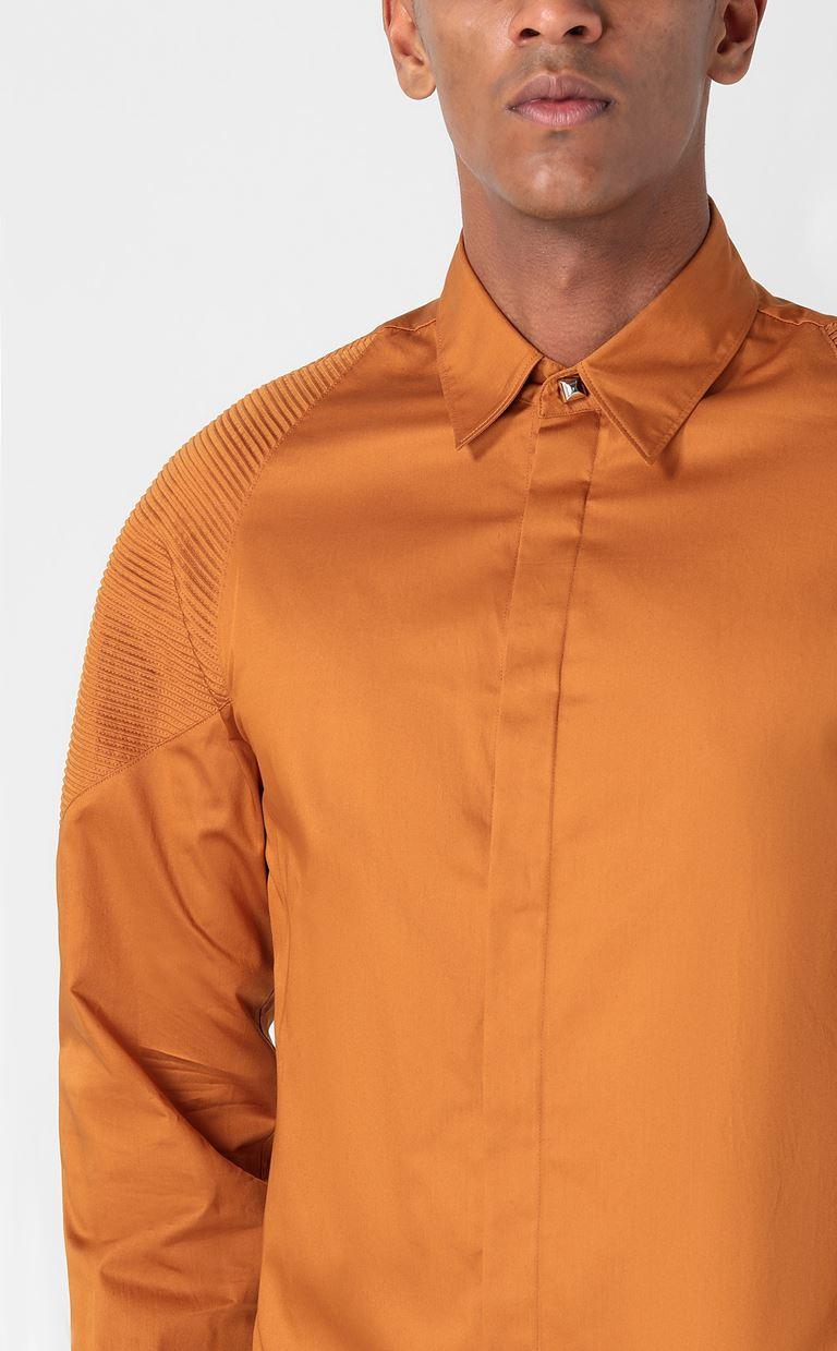 JUST CAVALLI Biker-detailed shirt Long sleeve shirt Man e