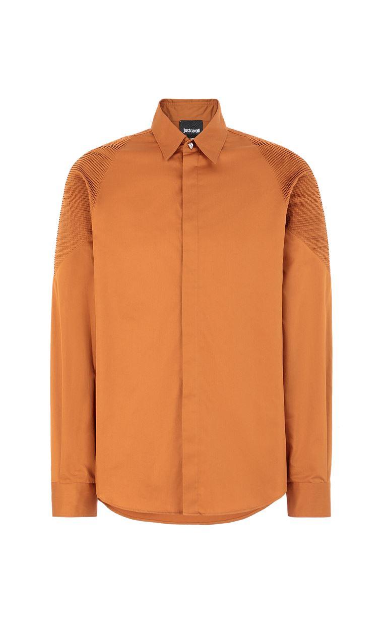JUST CAVALLI Biker-detailed shirt Long sleeve shirt Man f