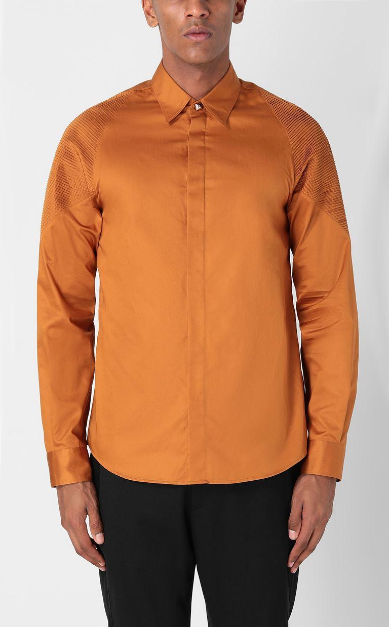 JUST CAVALLI Biker-detailed shirt Long sleeve shirt Man r