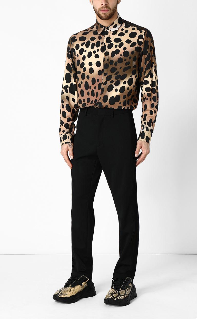 JUST CAVALLI Shirt with cheetah print Long sleeve shirt Man d