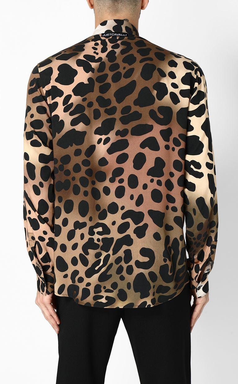 JUST CAVALLI Shirt with cheetah print Long sleeve shirt Man e