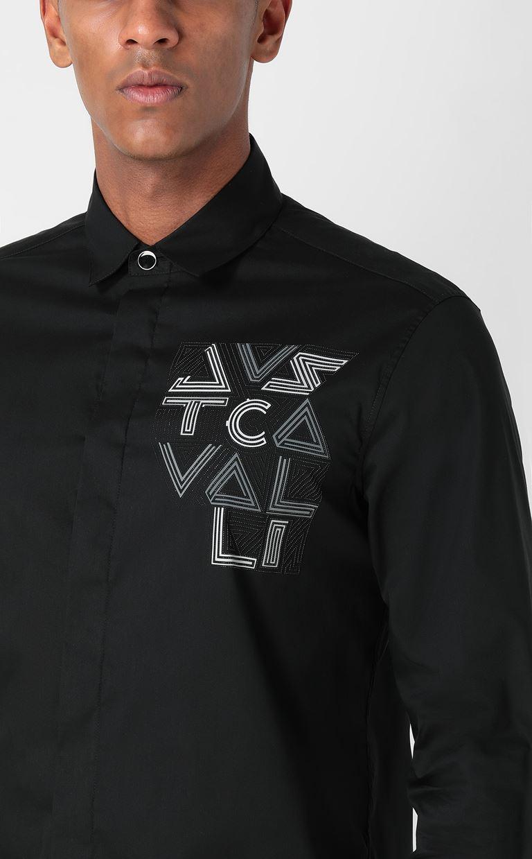 JUST CAVALLI Shirt with logo Long sleeve shirt Man e