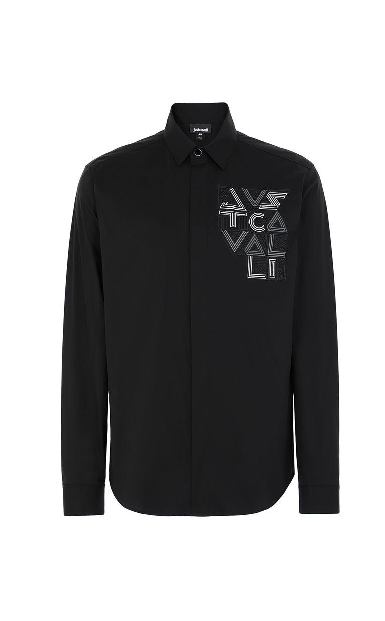 JUST CAVALLI Shirt with logo Long sleeve shirt Man f