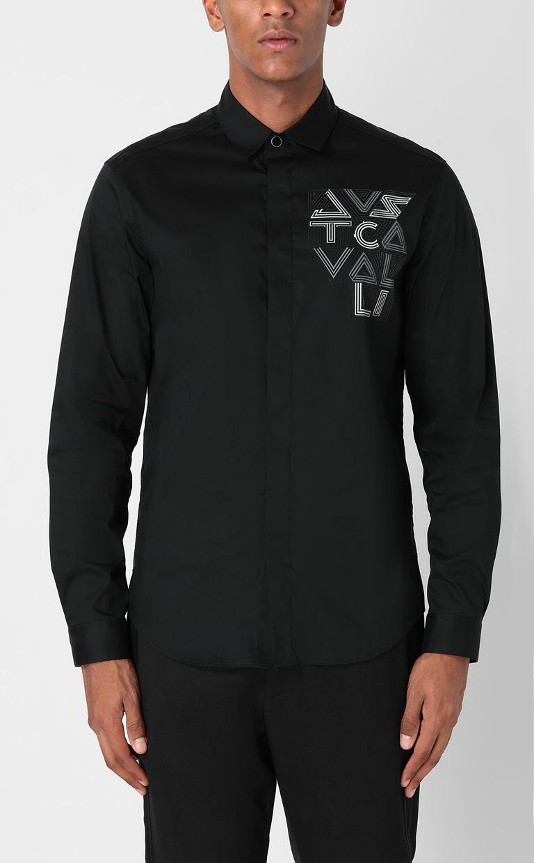 JUST CAVALLI Shirt with logo Long sleeve shirt Man r
