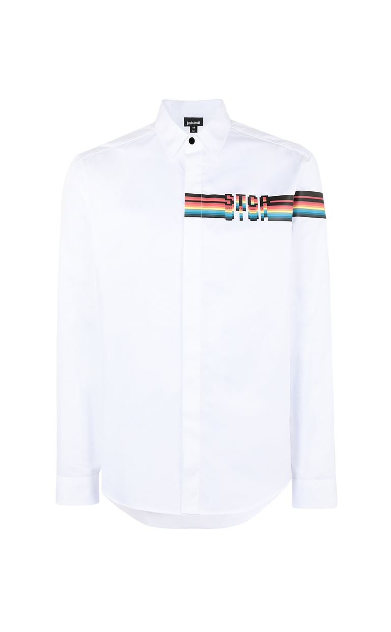 JUST CAVALLI Shirt with logo Long sleeve shirt Man f
