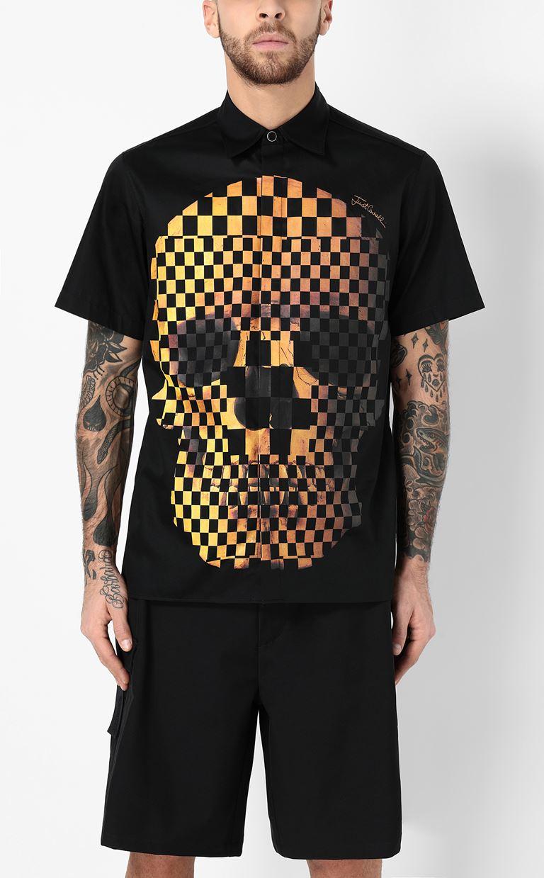 JUST CAVALLI Shirt with print design Short sleeve shirt Man r
