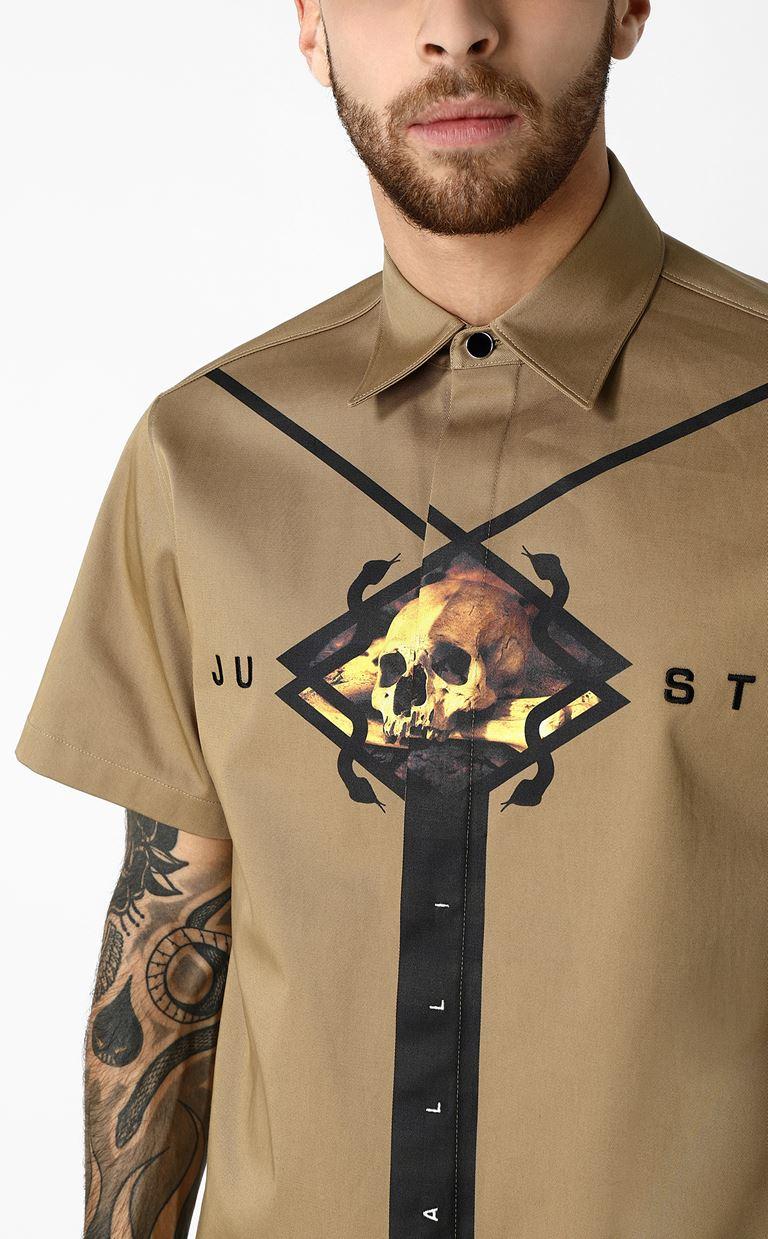 JUST CAVALLI シャツ プリント入り 半袖シャツ メンズ a