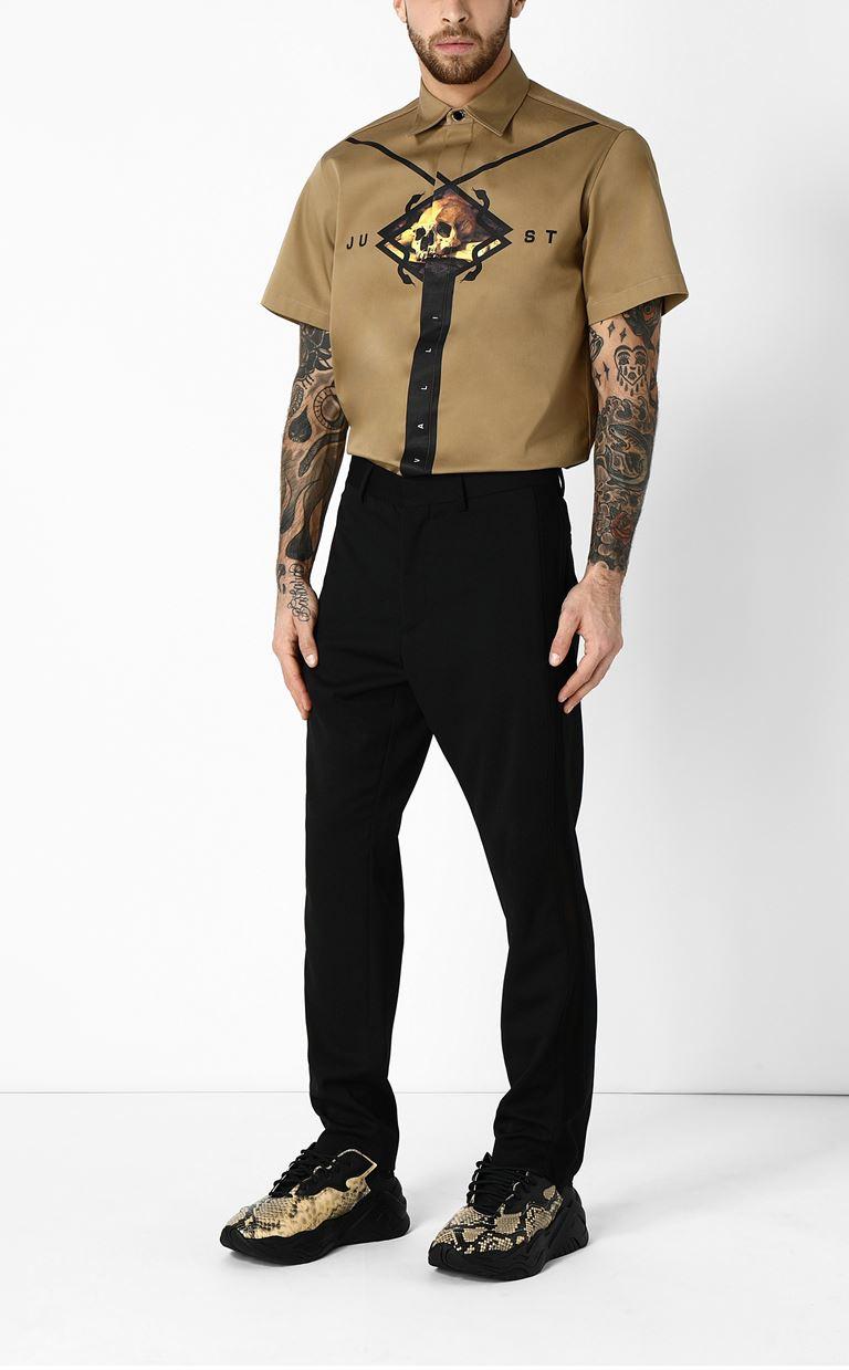 JUST CAVALLI Shirt with print design Short sleeve shirt Man d