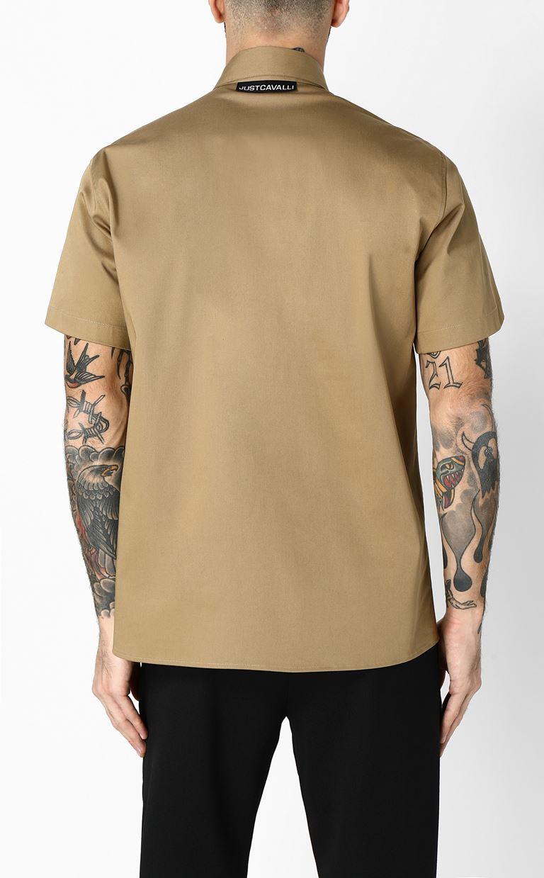 JUST CAVALLI Shirt with print design Short sleeve shirt Man e