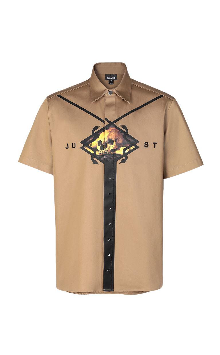 JUST CAVALLI Shirt with print design Short sleeve shirt Man f