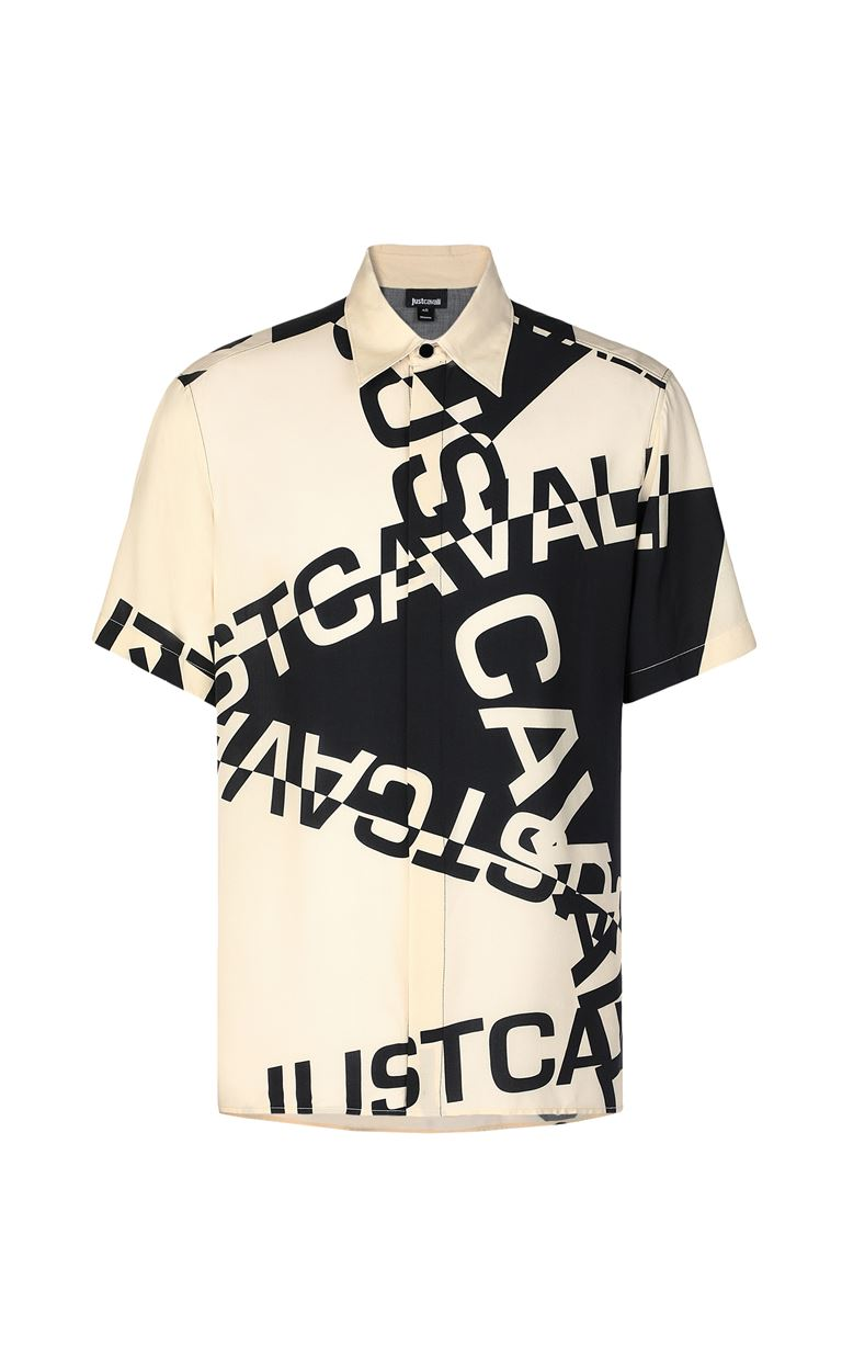 JUST CAVALLI Shirt with logo Short sleeve shirt Man f